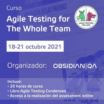 Agile testing for the whole team 18-21/10