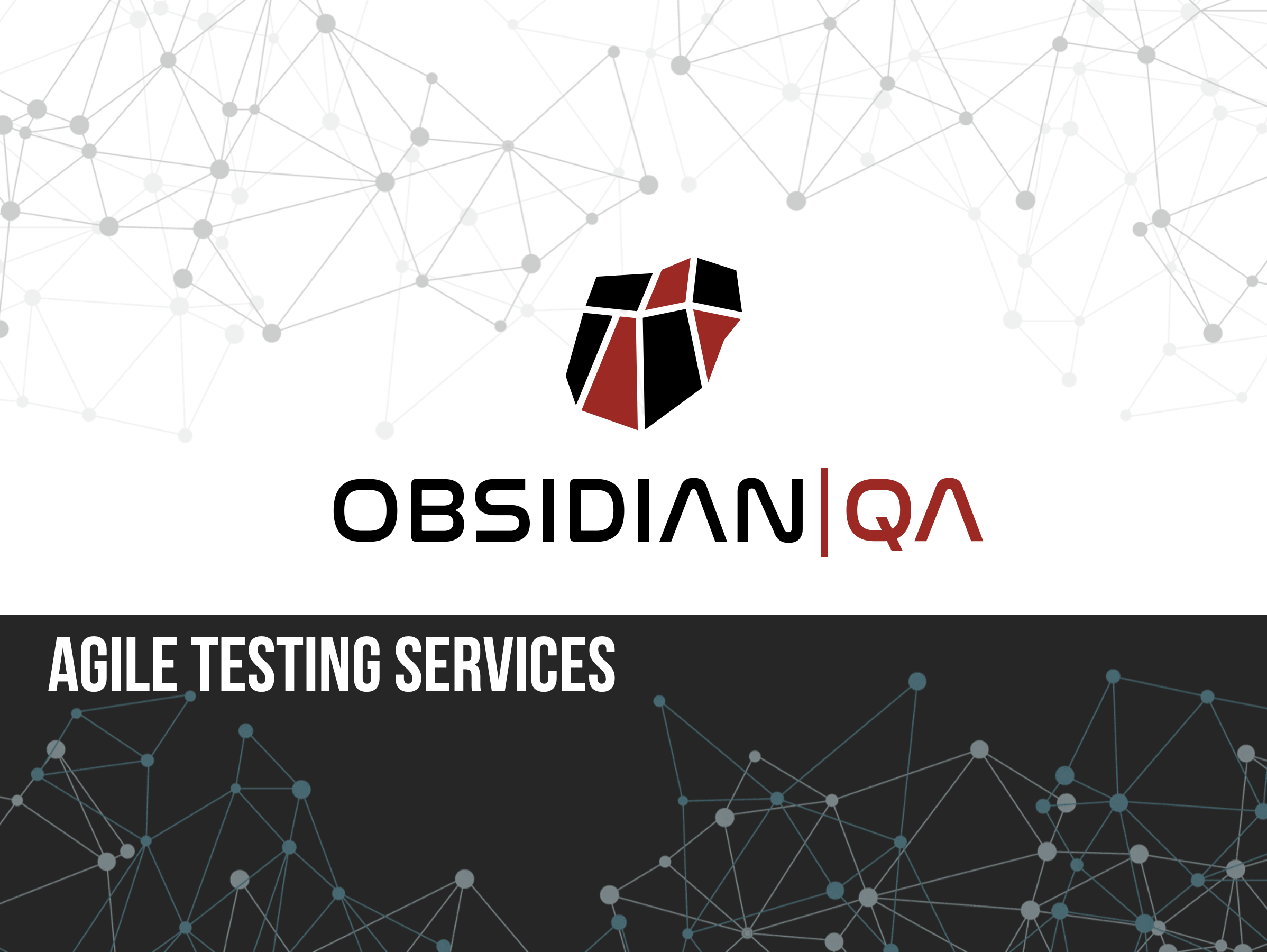 Agile Testing services with Obsidian QA
