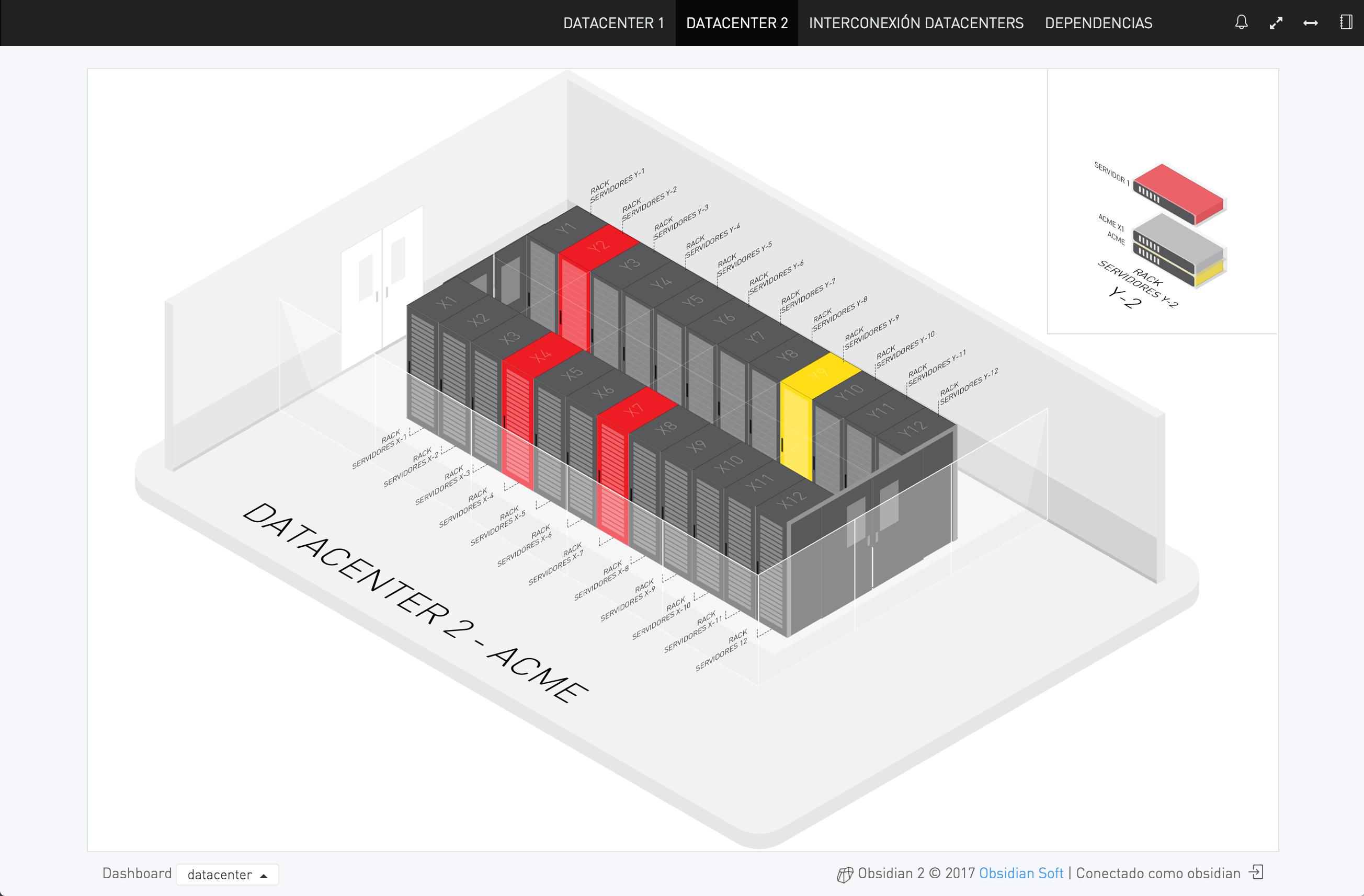 Datacenter Map · Obsidian on
