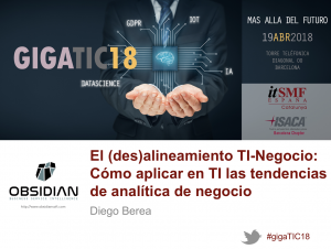 Obsidian, patrocinador ouro do GigaTIC 2018 de itSMF Espaha